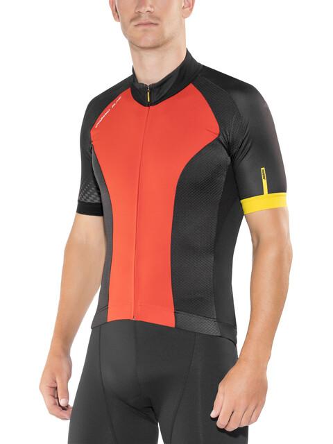 Mavic Cosmic Elite Bike Jersey Shortsleeve Men red/black